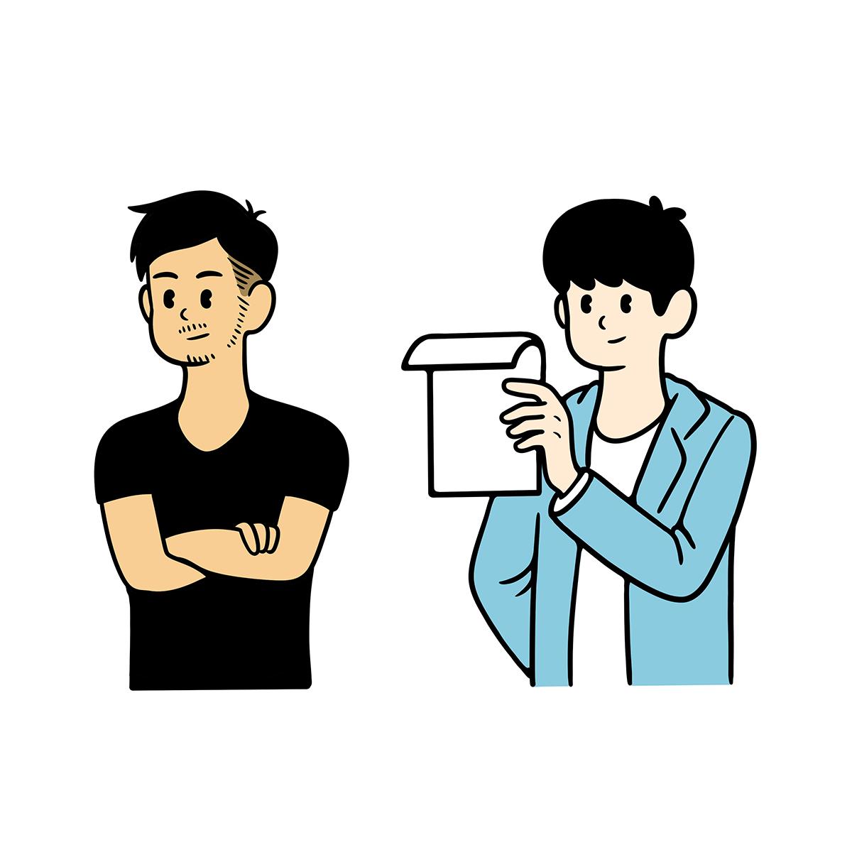 社内スタッフ_似顔絵